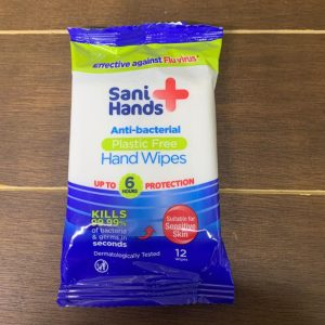 Sani+ Anti-Bacterial Plastic-Free Hand Wipes x 12