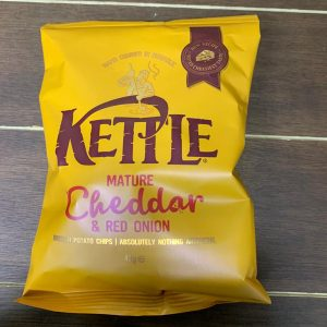 Mature Cheddar & Red Onion Kettle Chips